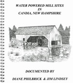 Water Powered Mill Sites in Candia, New Hampshire - Front Cover